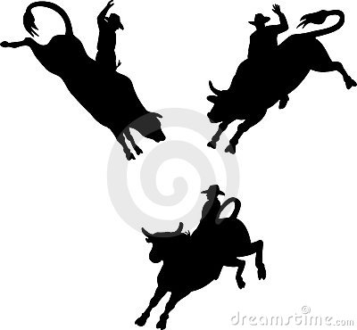 Free Rodeo Cowboy Bull Riding Royalty Free Stock Images - 7225269