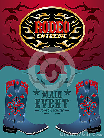 Rodeo - Cowboy event poster