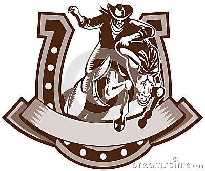 Rodeo Cowboy horse horseshoe