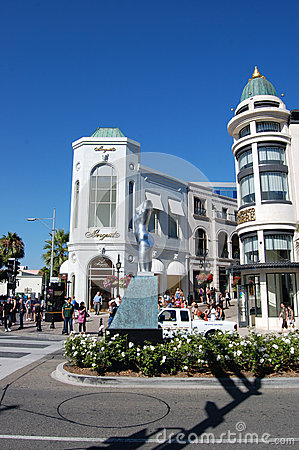 Rodeo Drive Editorial Stock Photo