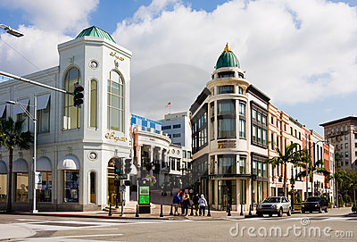 Rodeo Drive in Beverly Hills Editorial Photo