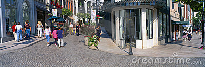 Rodeo Drive in  Beverly Hills, Editorial Photography