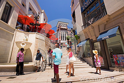 Rodeo Drive Beverly Hills Fotografia Editoriale