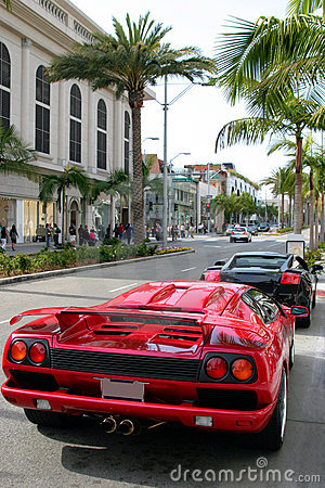 Rodeo drive, Beverly Hills, Ca Editorial Stock Image