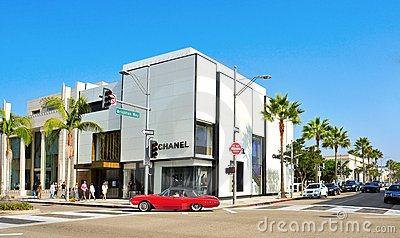 Rodeo Drive, Beverly Hills, United States Editorial Stock Image