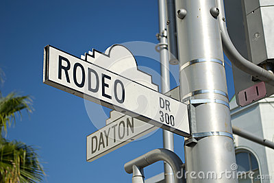 Rodeo Drive sign by Hollywood Editorial Photography