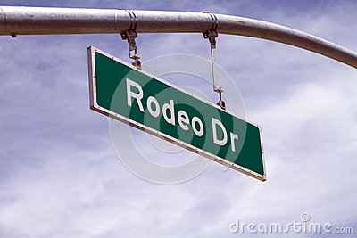 Rodeo Drive Street Sign In Beverly Hills, CA