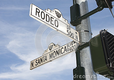 Rodeo Drive Street Sign In Beverly Hills, CA Editorial Stock Image