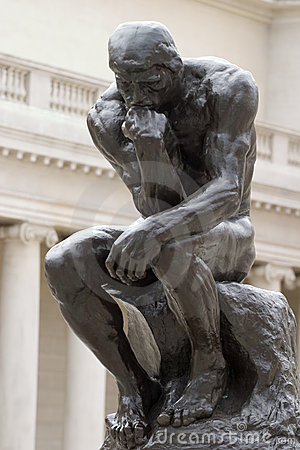 Rodin s Thinker full body Editorial Photography