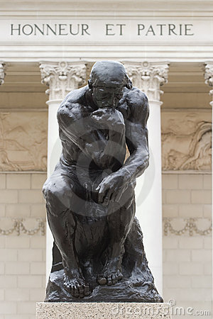 Rodin s Thinker full body Editorial Stock Photo