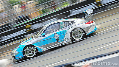 Rodolfo Avila racing at Porsche Carrera Cup Asia Editorial Stock Image