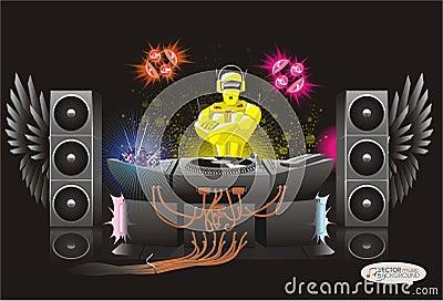 rodot abstrait du dj de fond de musique image libre de droits image 23120846. Black Bedroom Furniture Sets. Home Design Ideas