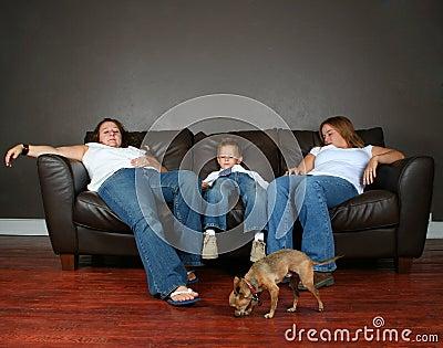 Rodzina śpi