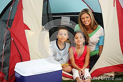 Rodzina campingowa