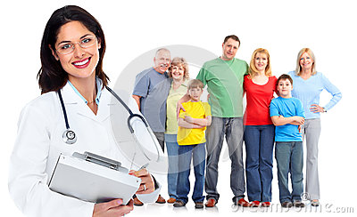 Rodzinnej lekarki kobieta. Opieka zdrowotna.