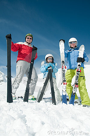 Rodziny narty drużyna