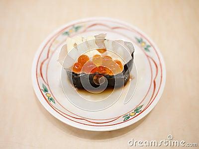 Roe sushi, japanese food