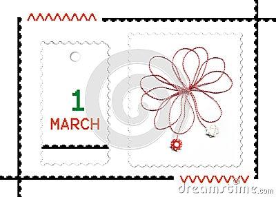Roemeense de lentevakantie van Martisor-