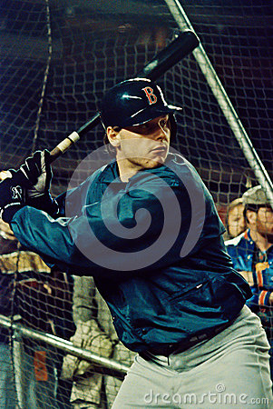 Roger Clemens taking batting practice Editorial Image