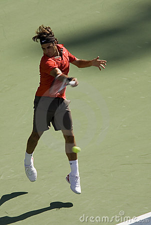 Roger Federer forehand Editorial Photo