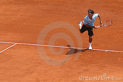 Roger Federer at Masters Series Montecarlo Editorial Stock Photo