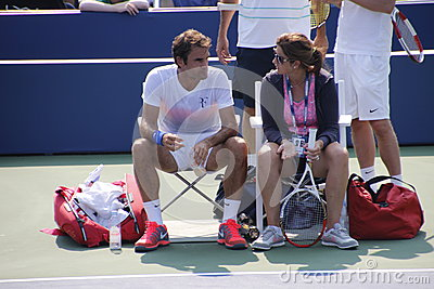 Roger and Mirka Federer Editorial Stock Image