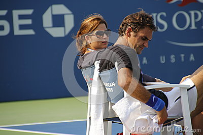Roger and Mirka Federer Editorial Photo