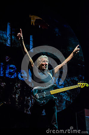 Roger Waters (Pink Floyd) bass guitar Editorial Image