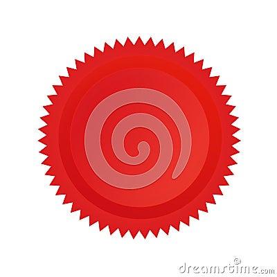 Rojo del sello de la aprobación