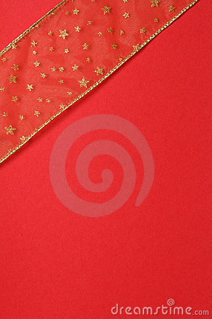 Rojo y regalo del oro