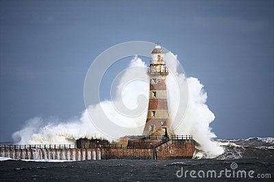 Roker Lighthouse Wave