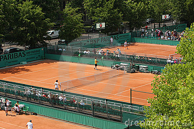 Roland Garros 2010 - courts Editorial Photo