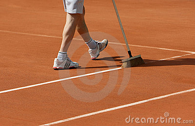 Roland Garros 2010 - line scrub Editorial Stock Photo