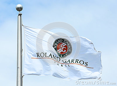 The Roland Garros flag Editorial Stock Photo