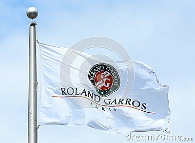 The Roland Garros flag Editorial Stock Photo