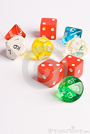 Free Role Play Style Dice Royalty Free Stock Photo - 29922645