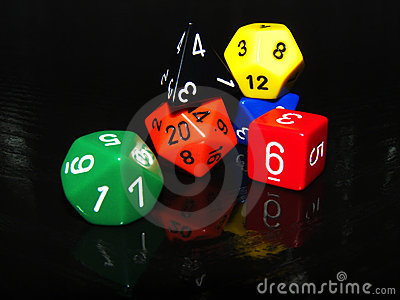 Role playing game dice set