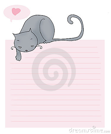 Rolig bokstavsförälskelse för katt