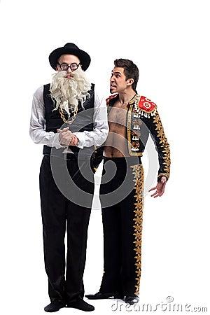 Rolig gammal jude och toreador