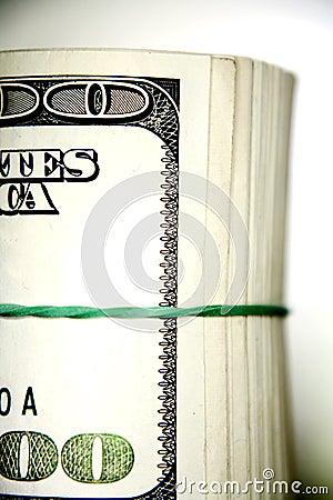 Roll of $100 bills (U.S.)