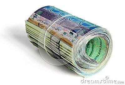 Roll of 10000 tenge