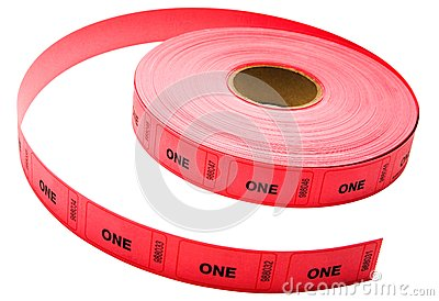 Roll of admission one tickets