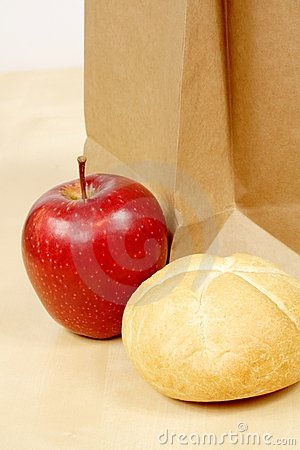 Roll and apple