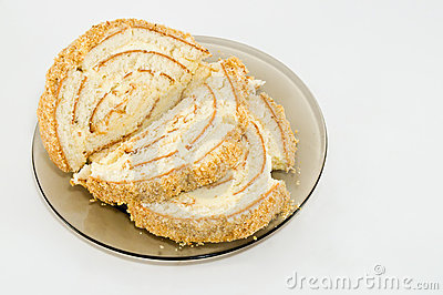 Roll biscuit with cream