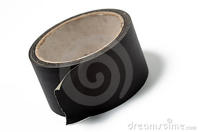 Roll of black duct tape