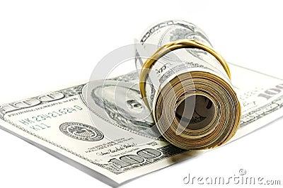 Roll of dollar bills