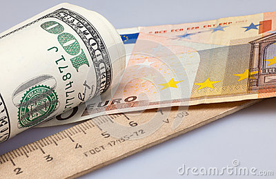 Roll dollars and euro