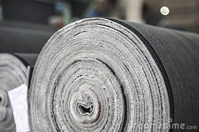 Roll of jeans cloth