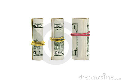 Roll money growth on white