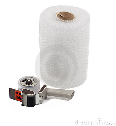Free Roll Of Bubble Wrap And Tape Dispenser Stock Photos - 8513753